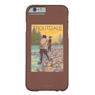 Women Fly Fishing - Troutdale, Oregon Barely There iPhone 6 Case