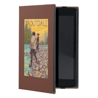 Women Fly Fishing - Troutdale, Oregon Cover For iPad Mini