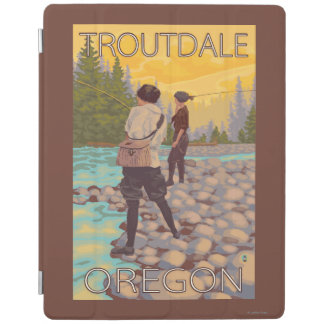 Women Fly Fishing - Troutdale, Oregon iPad Smart Cover