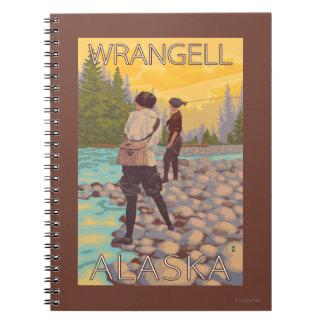 Women Fly Fishing - Wrangell, Alaska Notebook