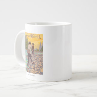 Women Fly Fishing - Wrangell, Alaska Extra Large Mugs