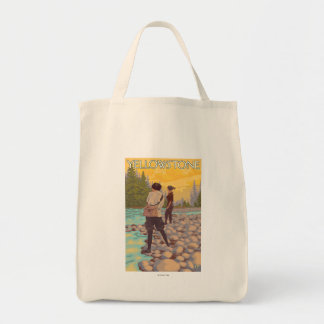 Women Fly Fishing - Yellowstone National Park Tote Bag