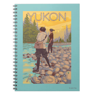 Women Fly Fishing - Yukon, Alaska Spiral Notebook
