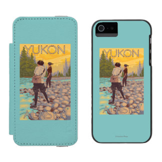 Women Fly Fishing - Yukon, Alaska Incipio Watson™ iPhone 5 Wallet Case
