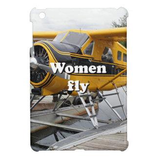Women fly: float plane, Lake Hood, Alaska iPad Mini Covers