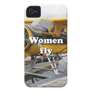 Women fly: float plane, Lake Hood, Alaska iPhone 4 Case
