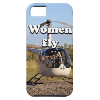 Women fly: Helicopter (white) 2 iPhone SE/5/5s Case