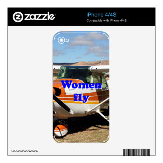 Women fly: high wing aircraft decal for the iPhone 4