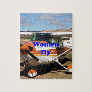 Women fly: high wing aircraft jigsaw puzzle