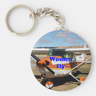 Women fly: high wing aircraft keychain