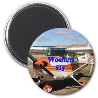 Women fly: high wing aircraft magnet