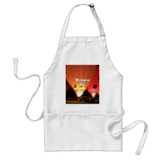 Women fly: hot air balloon 2 adult apron