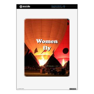 Women fly: hot air balloon 2 iPad decals