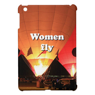 Women fly: hot air balloon 2 iPad mini cover