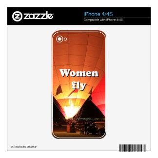Women fly: hot air balloon 2 iPhone 4 skins