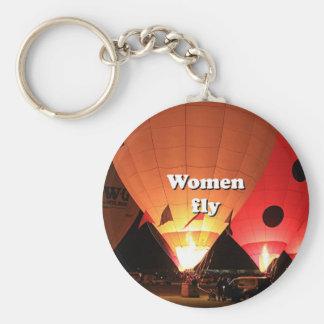 Women fly: hot air balloon 2 keychain