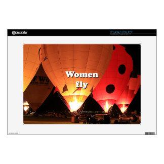 Women fly: hot air balloon 2 laptop decal