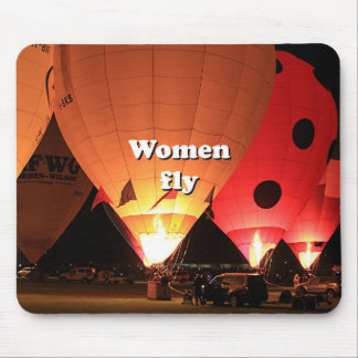 Women fly: hot air balloon 2 mouse pad