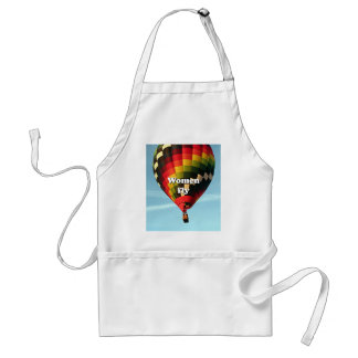 Women fly: hot air balloon adult apron