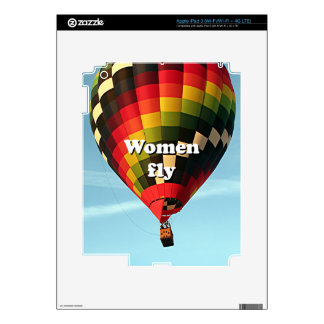 Women fly: hot air balloon decals for iPad 3