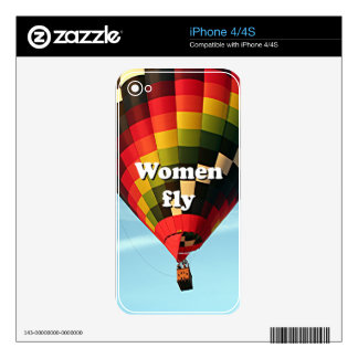 Women fly: hot air balloon decals for iPhone 4S