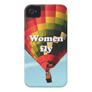 Women fly: hot air balloon iPhone 4 Case-Mate case