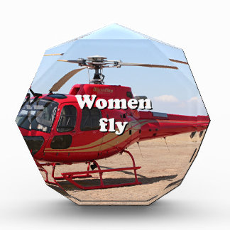 Women fly: red helicopter award