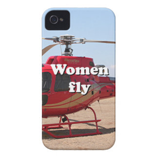 Women fly: red helicopter iPhone 4 case