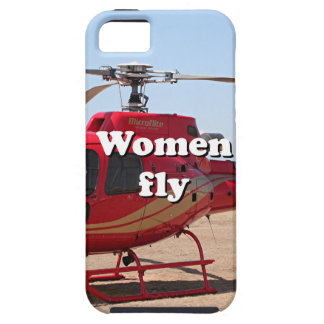 Women fly: red helicopter iPhone SE/5/5s case