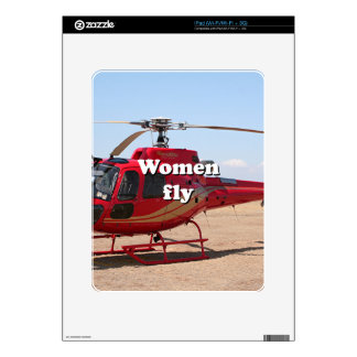 Women fly: red helicopter skins for the iPad