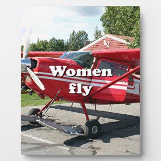 Women fly: ski plane, Talkeetna, Alaska Plaque