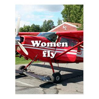 Women fly: ski plane, Talkeetna, Alaska Postcard