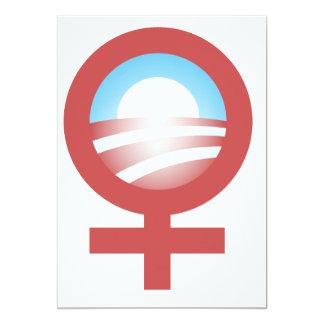 Women for Barack Obama 2012 Logo 5x7 Paper Invitation Card
