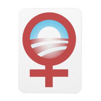 Women for Barack Obama 2012 Logo Rectangle Magnets