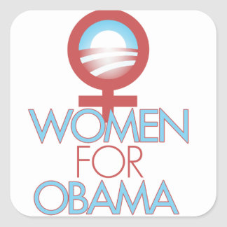 Women for Barack Obama 2012 Square Sticker