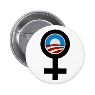 WOMEN FOR BARACK OBAMA CAMPAIGN BUTTON