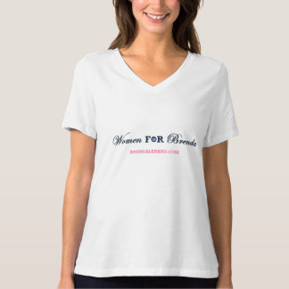 Women for Brenda Bella Plus Size Jersey V-Neck Tshirt
