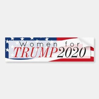 Women for Donald Trump 2020 Bumper Sticker