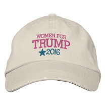 Women for Donald Trump - President 2016 Embroidered Baseball Cap