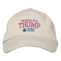 Women for Donald Trump - President 2016 Embroidered Baseball Cap