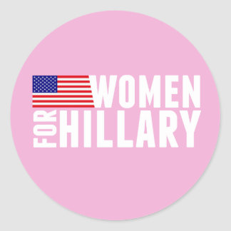 Women for Hillary Pink Classic Round Sticker