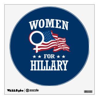 WOMEN FOR HILLARY WALL STICKER