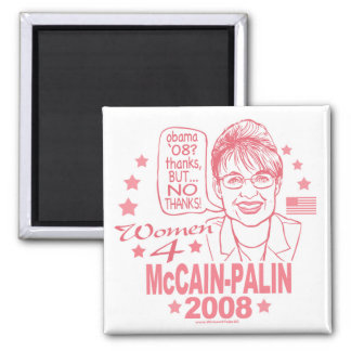 Women for McCain Palin 2008 2 Inch Square Magnet