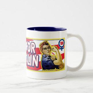 Women for McCain Palin 2008 Two-Tone Coffee Mug