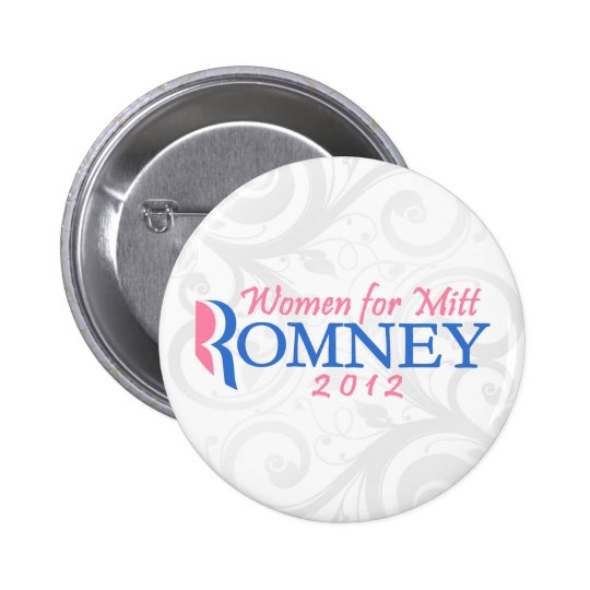 Women for Mitt Romney 2012, Pink/Blue Button