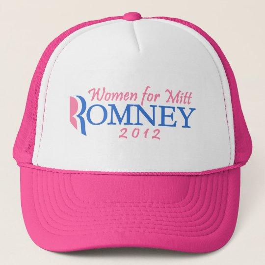 Women for Mitt Romney 2012, Pink/Blue Trucker Hat