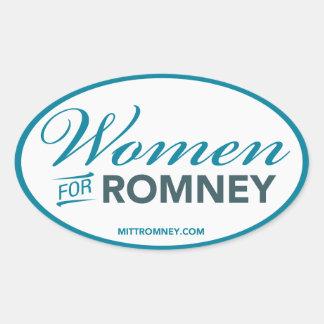 Women For Mitt Romney 2012 (White Oval Sticker) Oval Sticker
