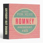 Women For Mitt Romney 3 Ring Binder