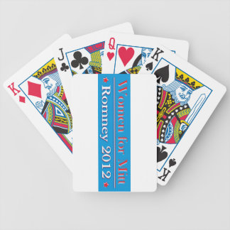 WOMEN FOR MITT ROMNEY BICYCLE PLAYING CARDS