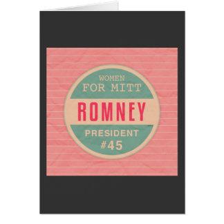 Women For Mitt Romney Greeting Card